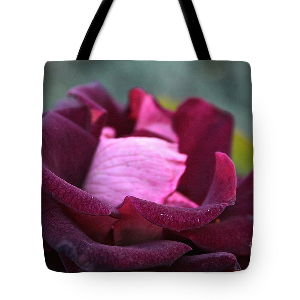 Flower Tote Bag featuring the photograph Burgundy Velet by Susan Herber