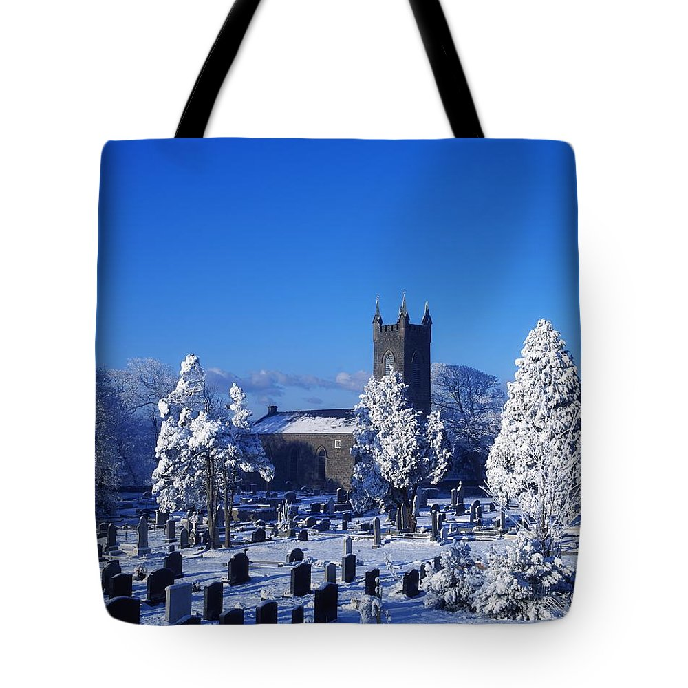 Bushmills Church Tote Bag featuring the photograph Bushmills Church, County Antrim by The Irish Image Collection