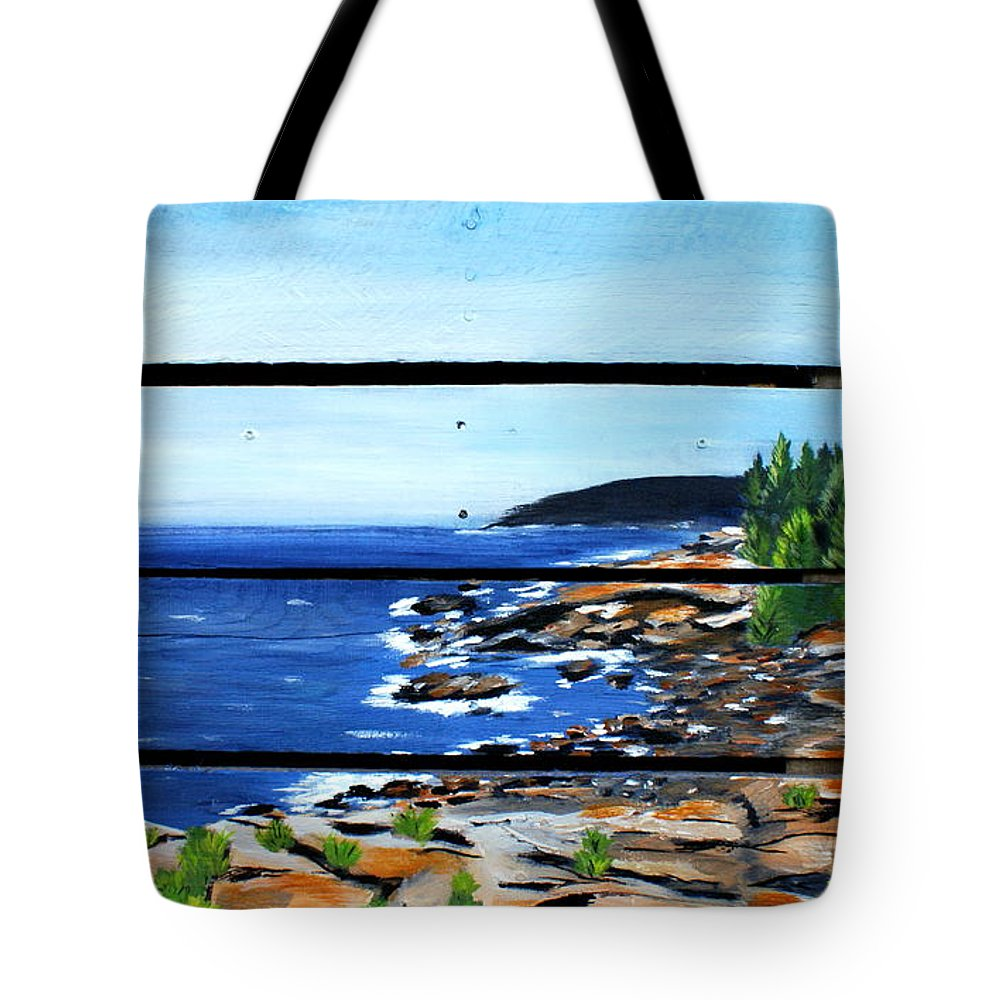 Sea Tote Bag featuring the painting By The Sea by Ashley Galloway