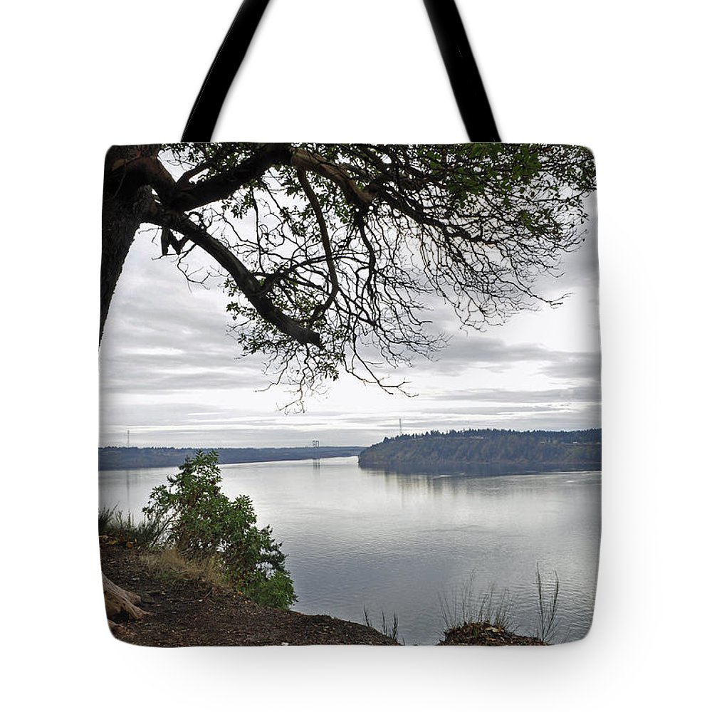 Landscape Tote Bag featuring the photograph By The Still Waters by Tikvah's Hope