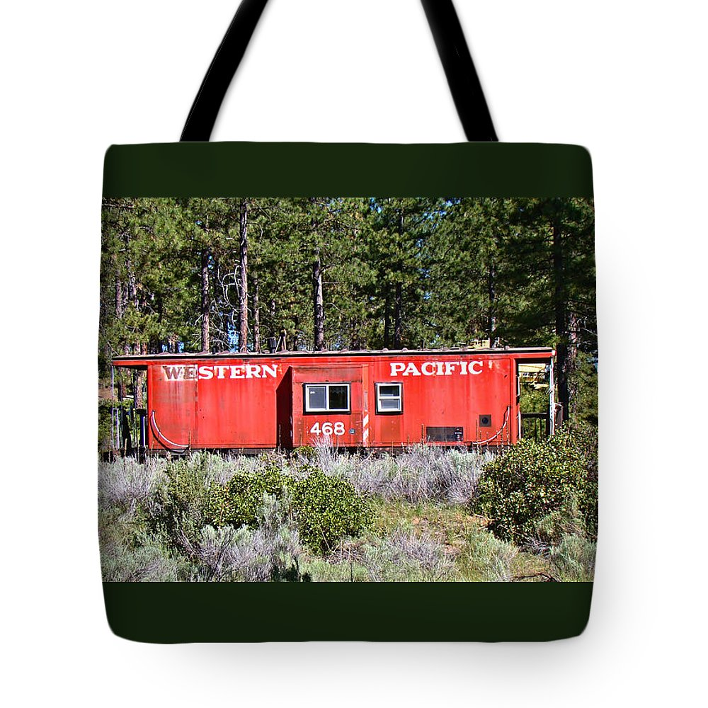 Caboose Tote Bag featuring the photograph Cabin Car by Nick Kloepping