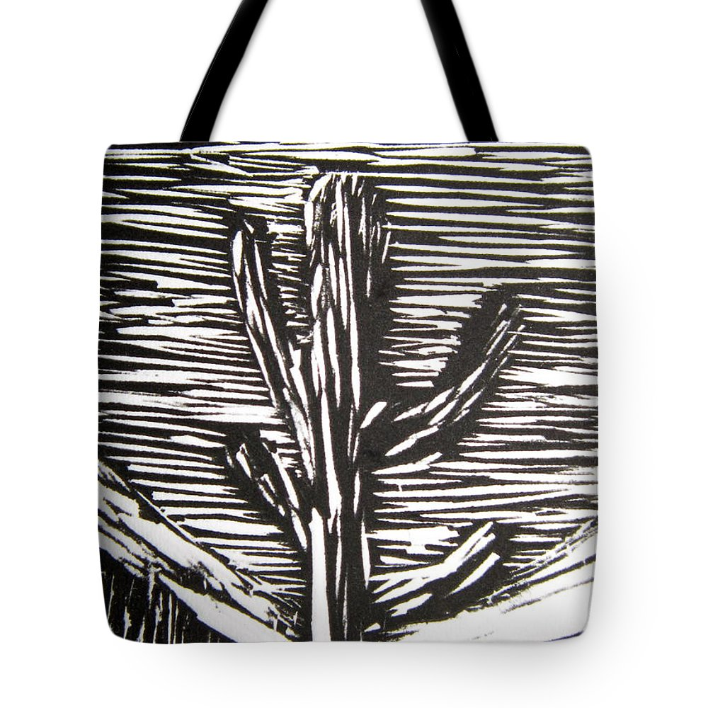 Cactus Tote Bag featuring the relief Cactus by Marita McVeigh