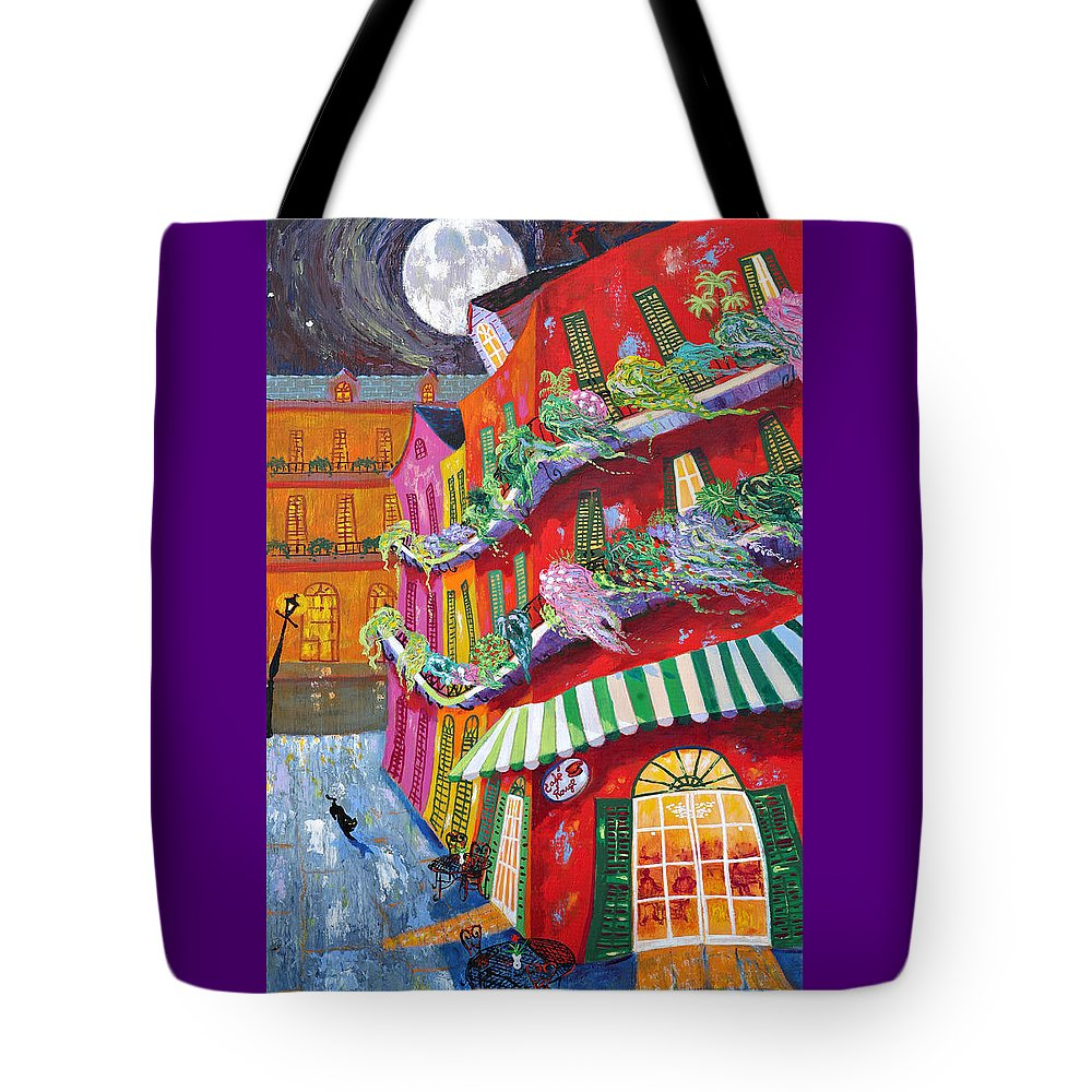 Cafe Tote Bag featuring the painting Cafe Rouge by Richard Lewis