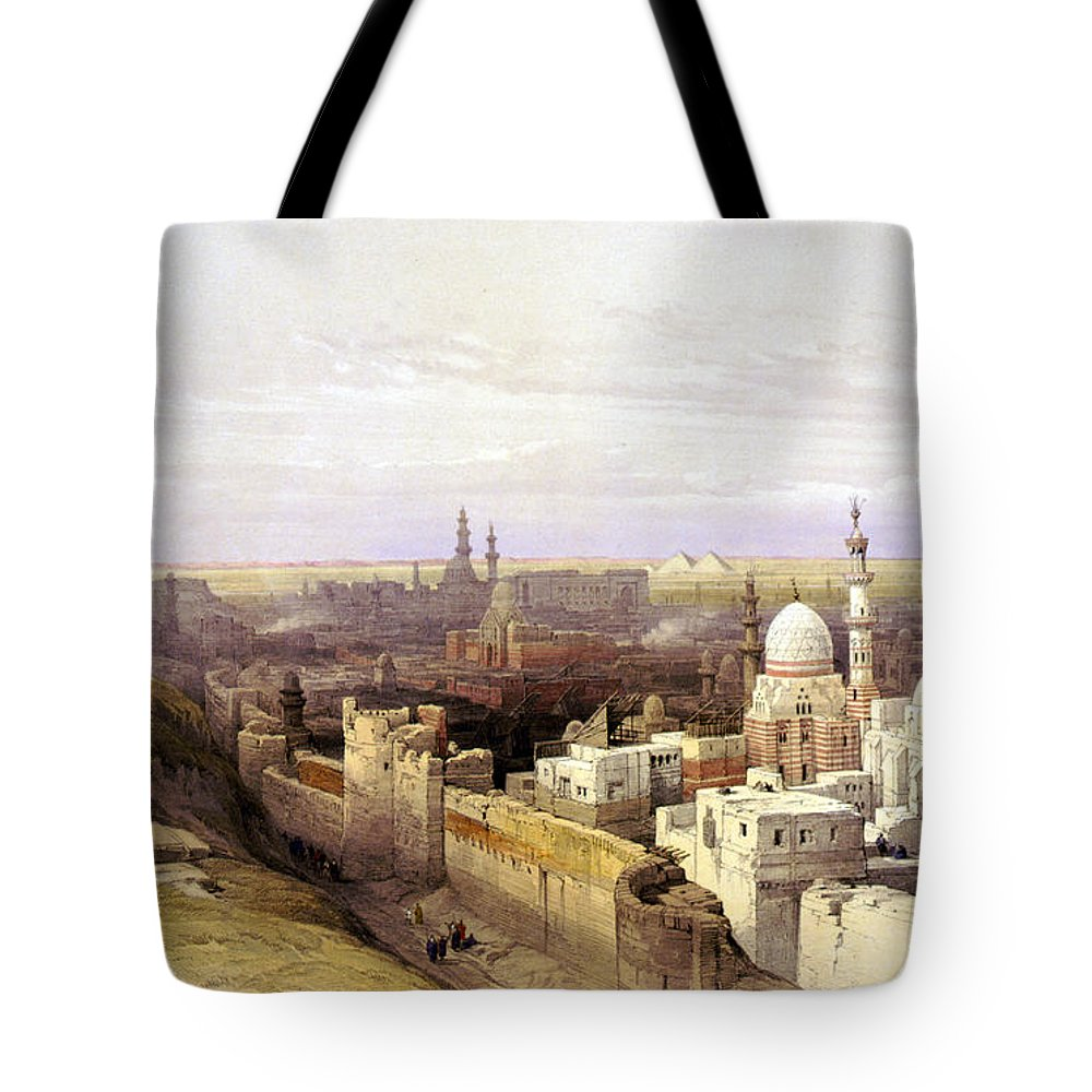 Cairo Tote Bag featuring the photograph Cairo From The West by Munir Alawi
