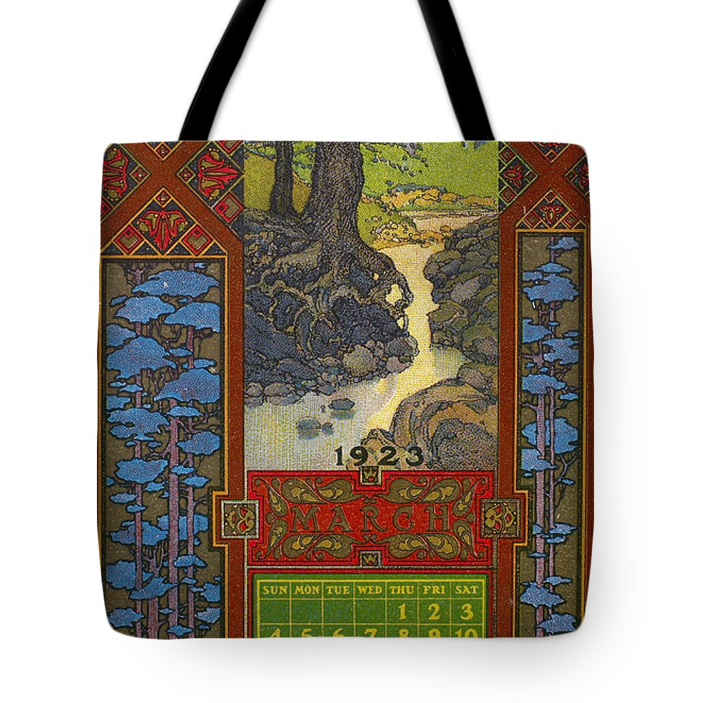 1923 Tote Bag featuring the photograph Calendar, 1923 by Granger
