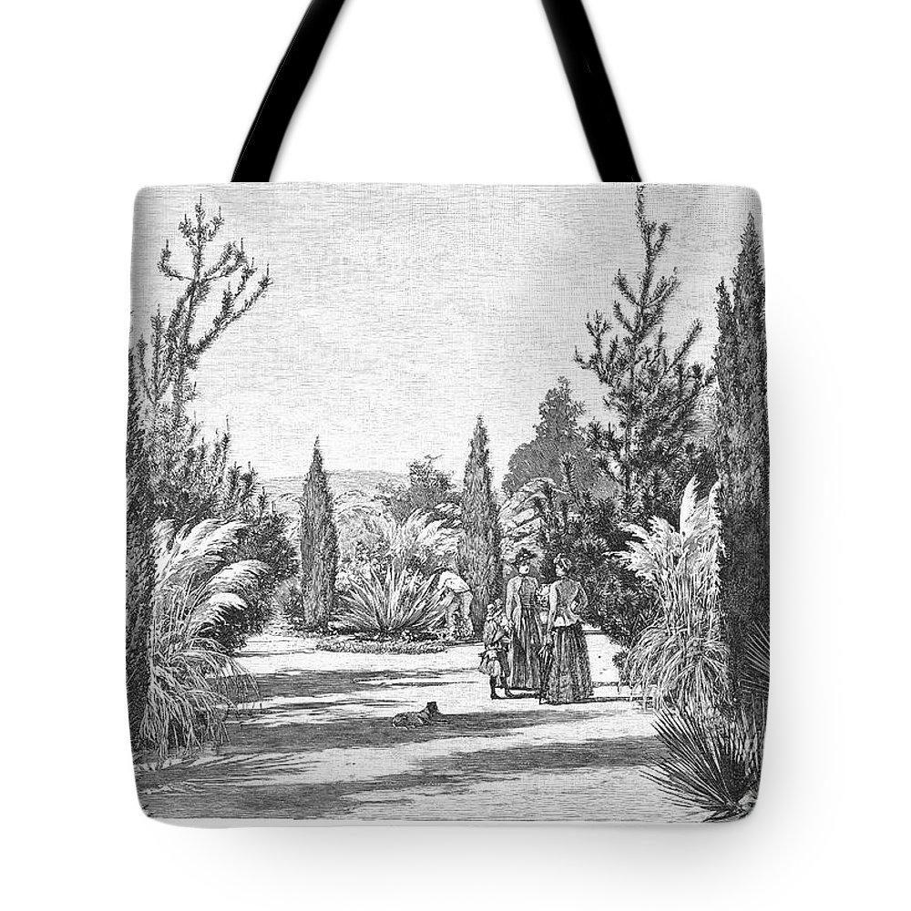 1890 Tote Bag featuring the photograph California: Pasadena, 1890 by Granger