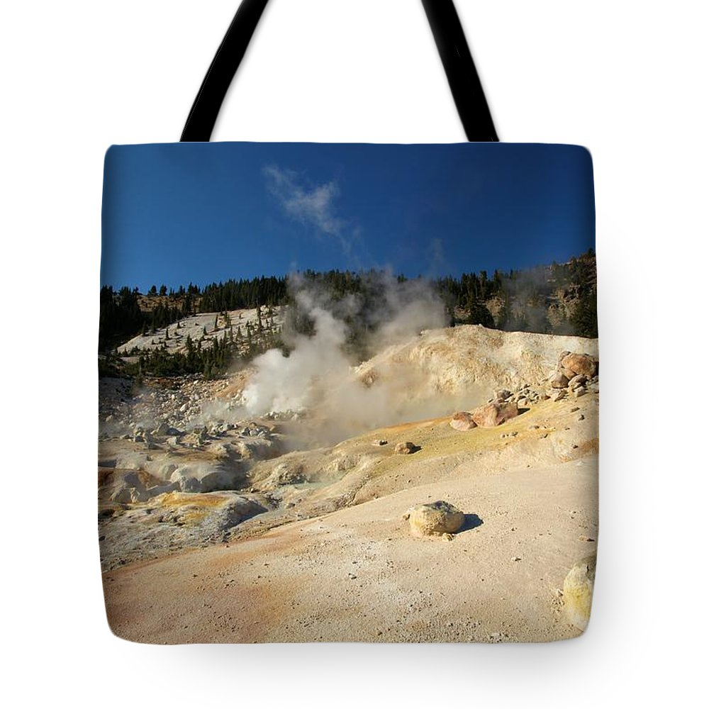 Lassen Volcanic National Park Tote Bag featuring the photograph California Thermals by Adam Jewell