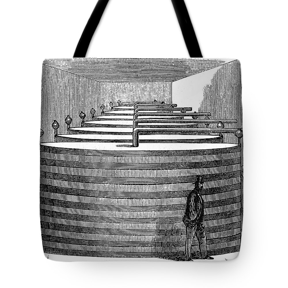 1864 Tote Bag featuring the photograph California: Winery, 1864 by Granger