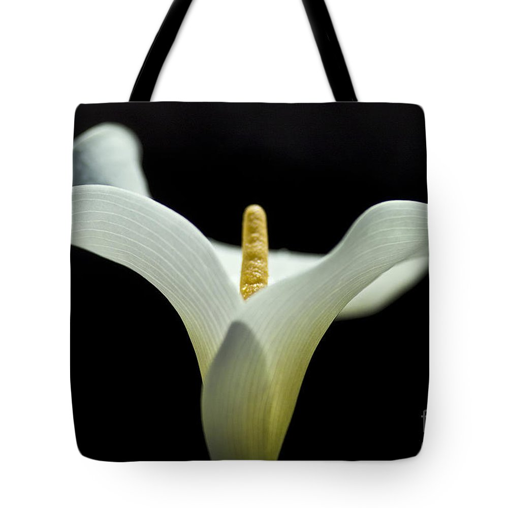 Calla Tote Bag featuring the photograph Calla Blossom - Cala by Heiko Koehrer-Wagner