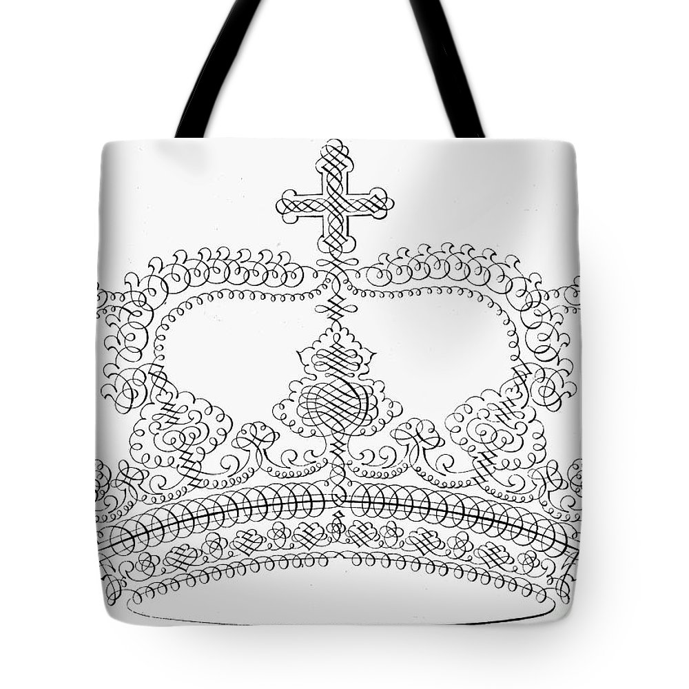 18th Century Tote Bag featuring the photograph Calligraphy Crown by Granger