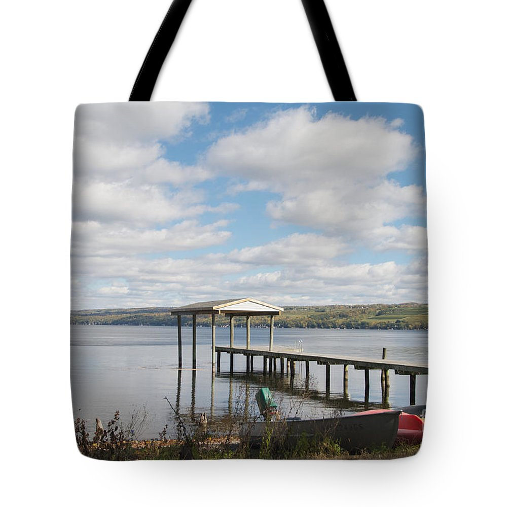 Seneca Lake Tote Bag featuring the photograph Calm Waters by William Norton