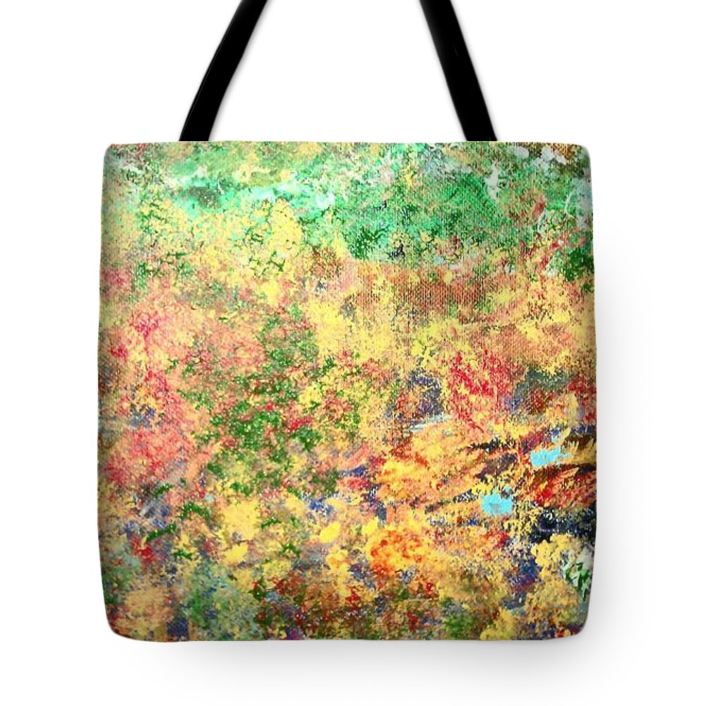 Abstract Tote Bag featuring the painting Calmness Within by Lisa S Patti