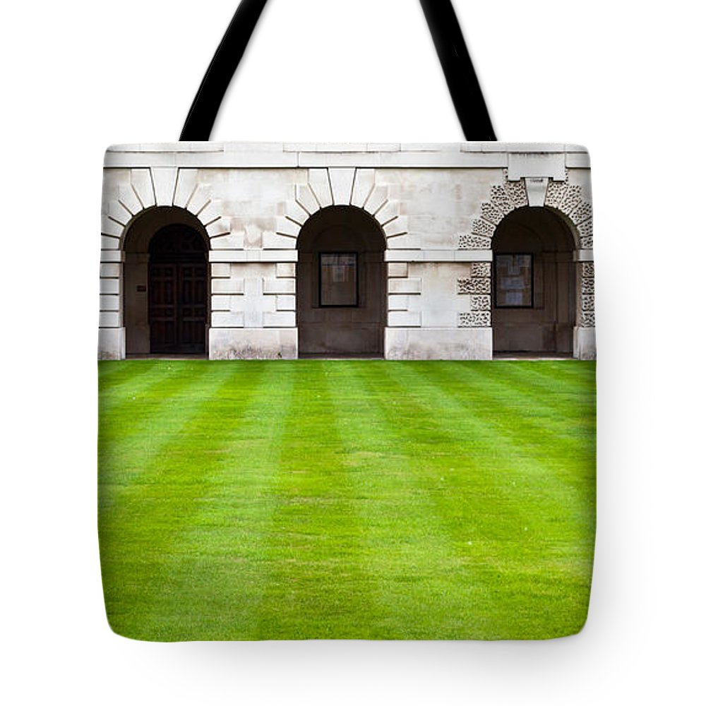 Ancient Tote Bag featuring the photograph Cambridge College by Tom Gowanlock