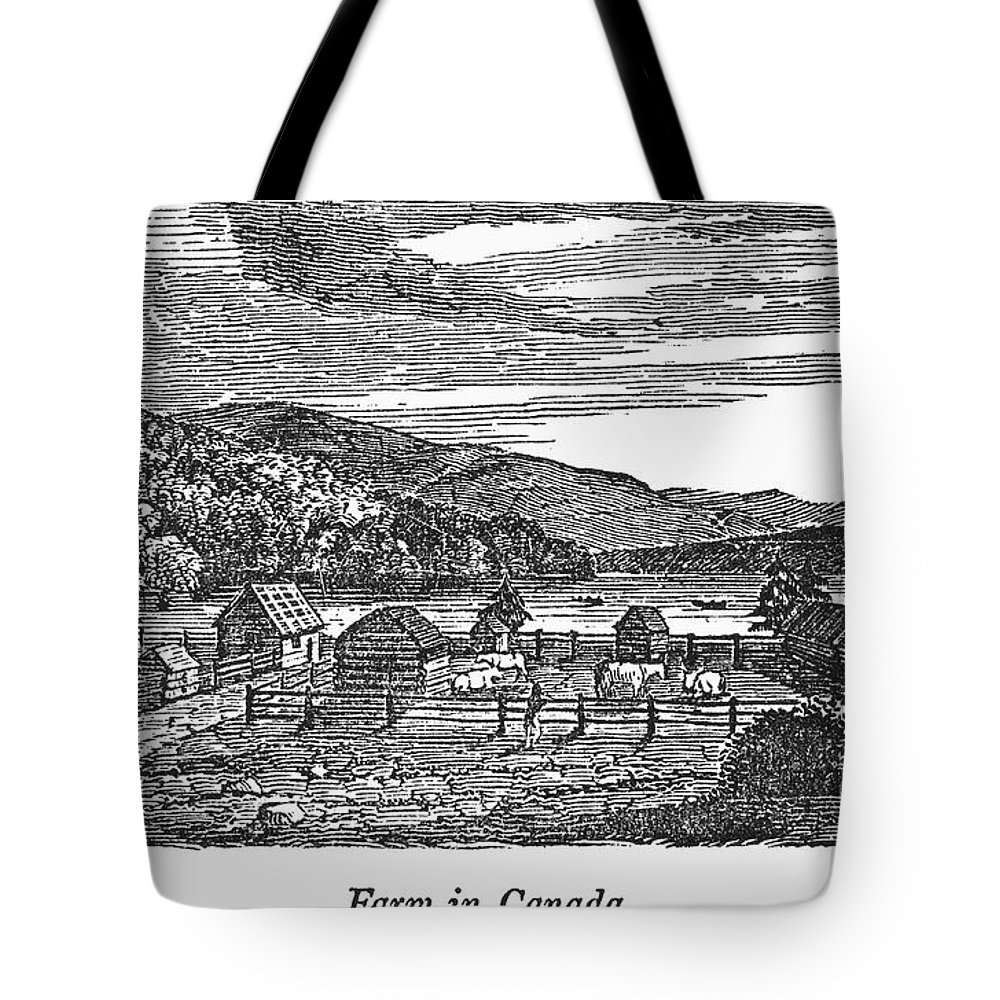1820 Tote Bag featuring the photograph Canada: Farm, C1820 by Granger