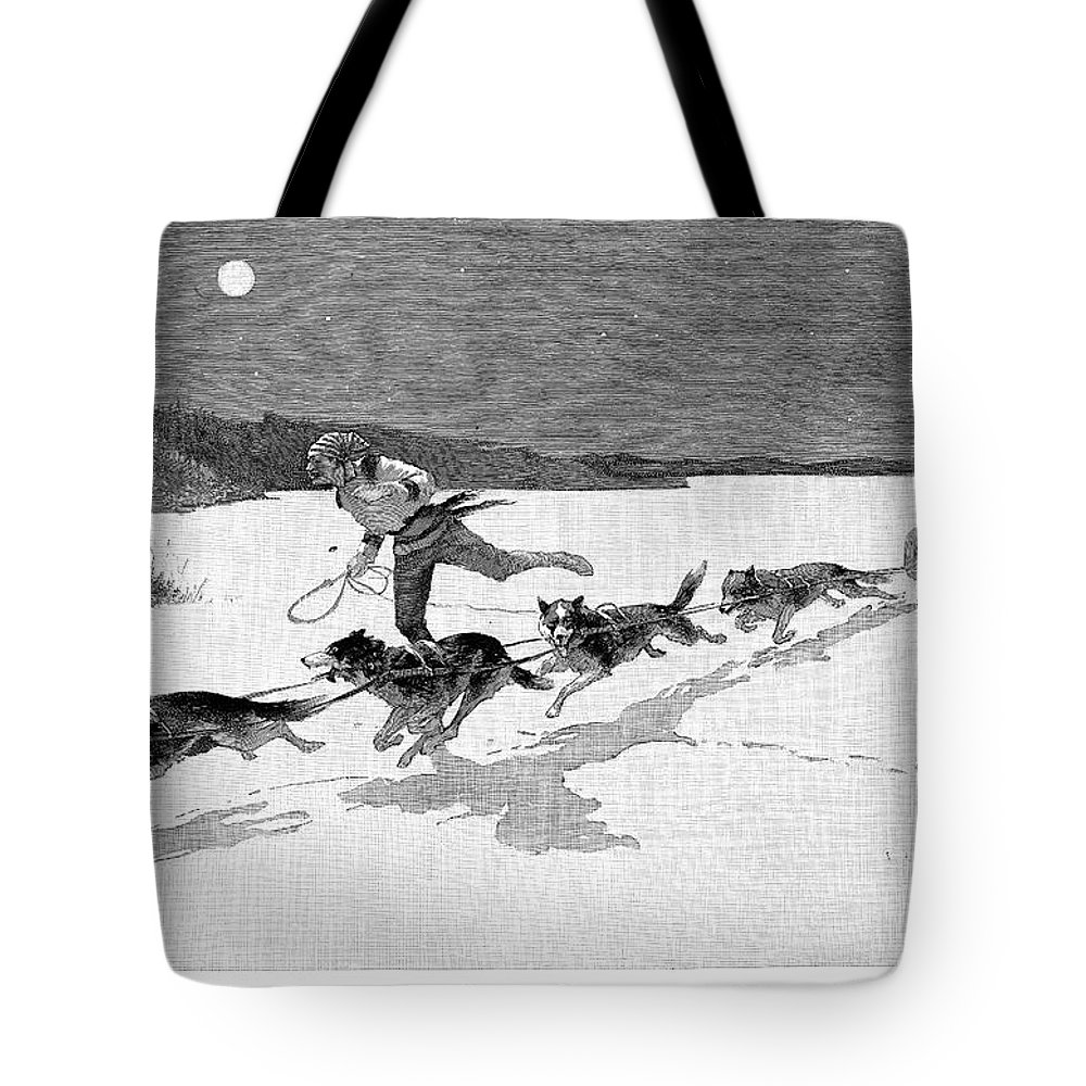 1892 Tote Bag featuring the photograph Canada: Fur Trade, 1892 by Granger
