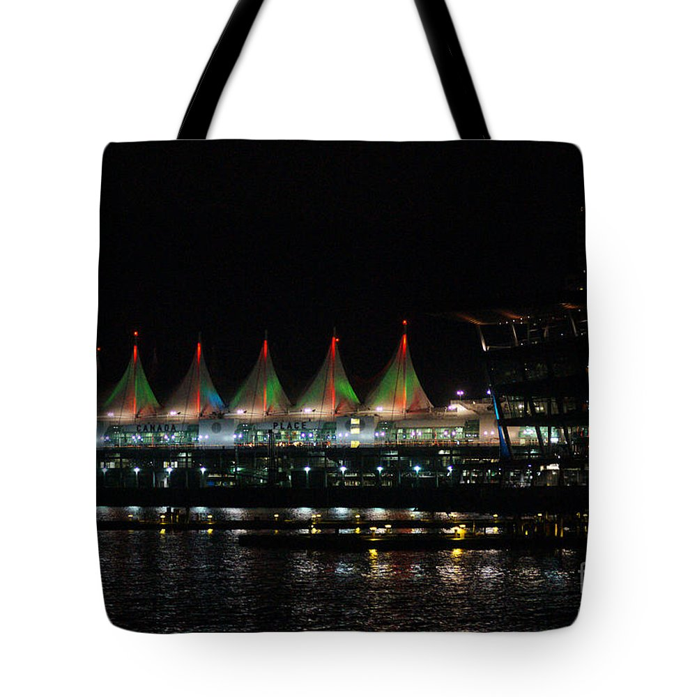 Convention Center Tote Bag featuring the photograph Canada Place Convention Center by Randy Harris