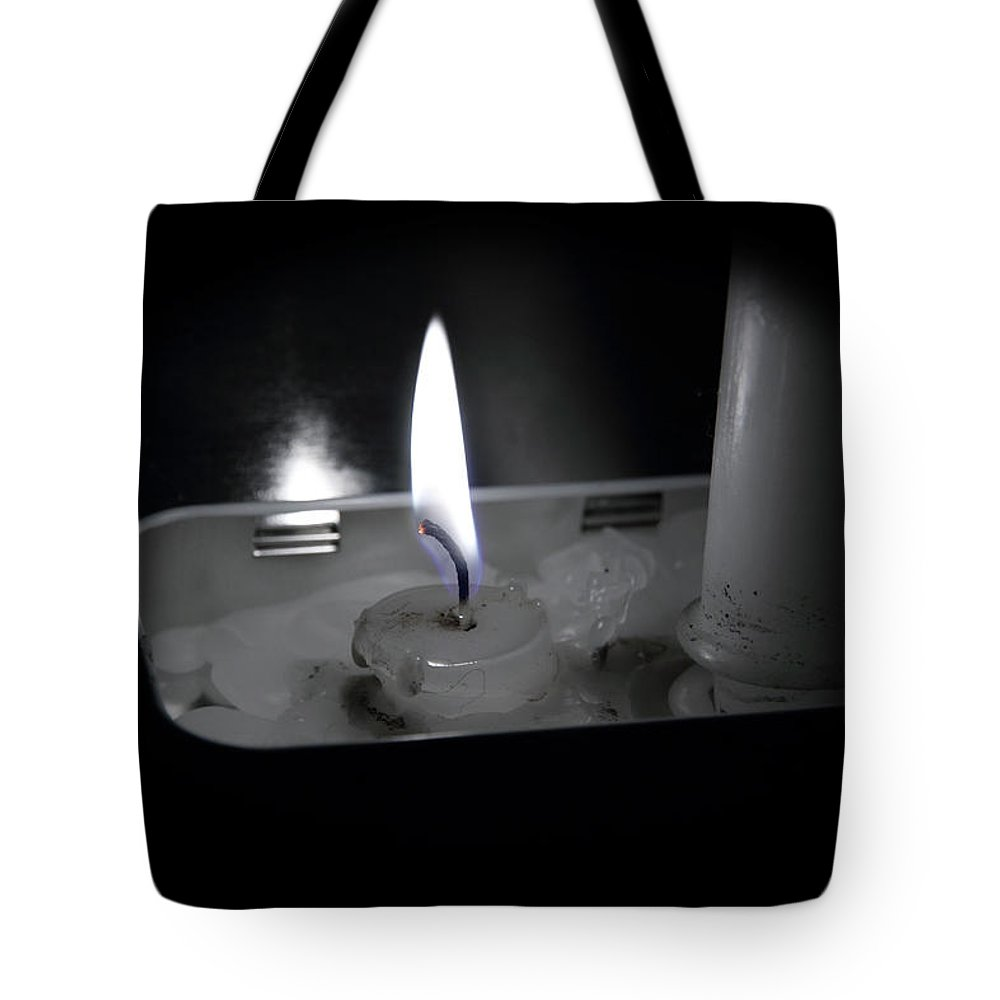 Acrylic Prints Tote Bag featuring the photograph Candle Flame by John Herzog