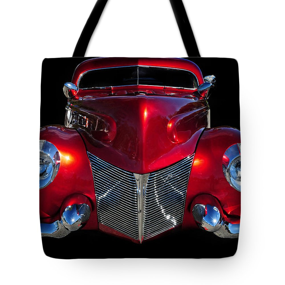 Red Tote Bag featuring the photograph Candy Red by Dave Mills