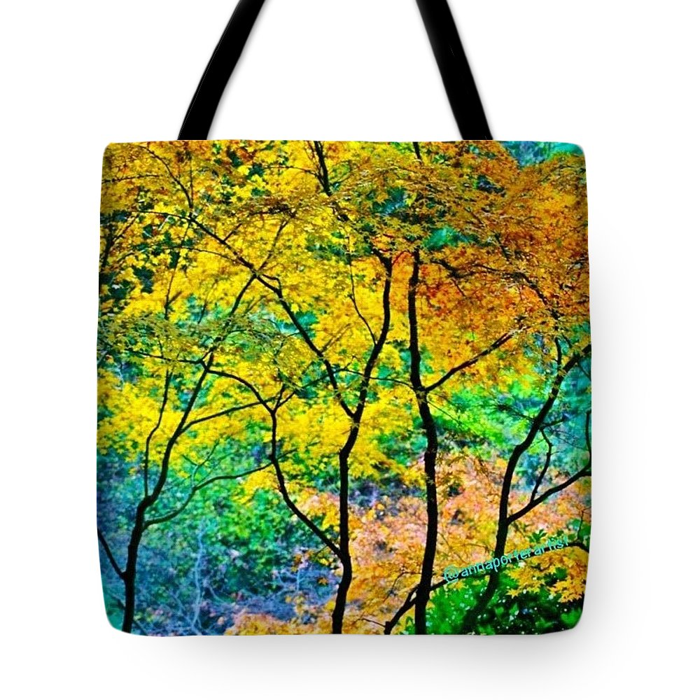 Fall Color Tote Bag featuring the photograph Canopy of Life by Anna Porter
