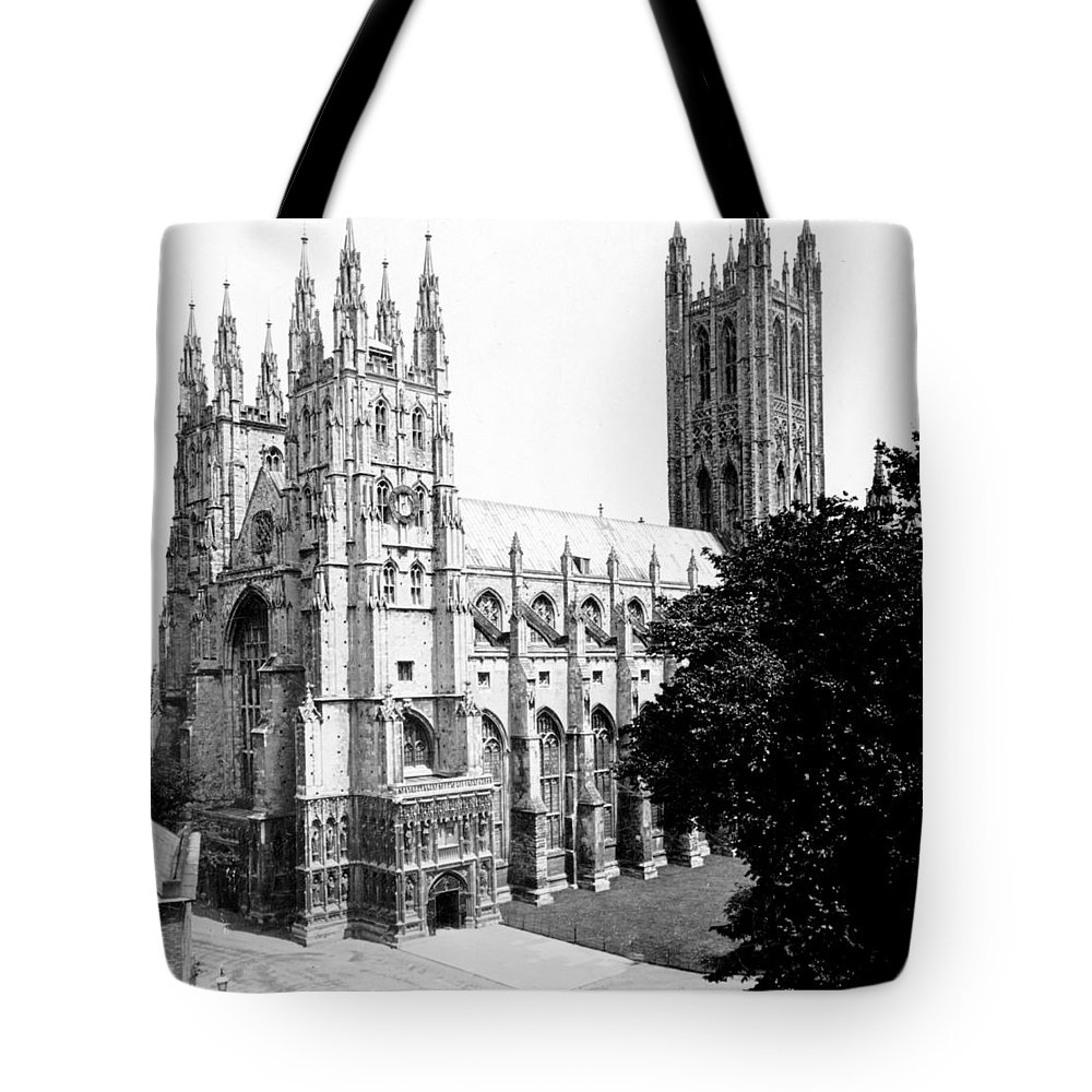 canterbury Cathedral Tote Bag featuring the photograph Canterbury Cathedral - England - C 1902 by International Images