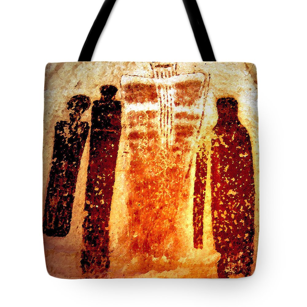 Art Tote Bag featuring the painting Canyon Ghosts by David Lee Thompson