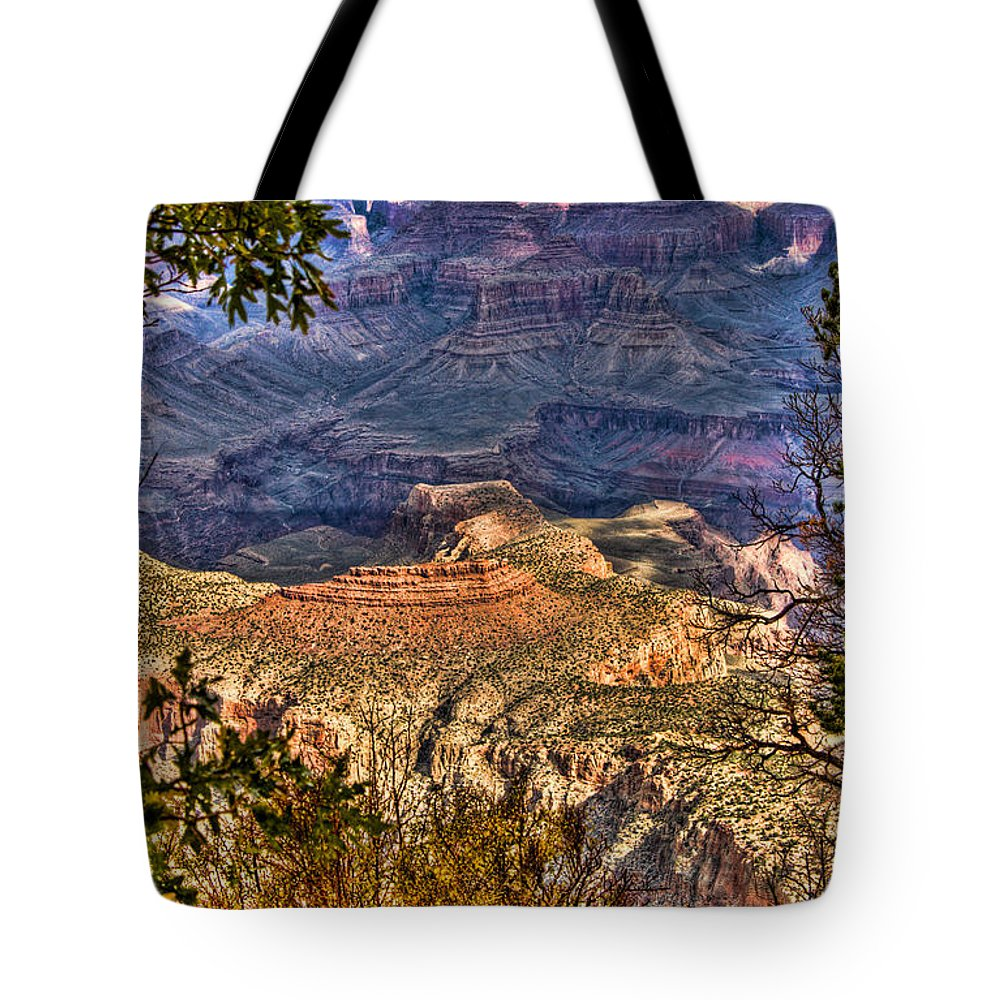 Grand Canyon Tote Bag featuring the photograph Canyon View II by Jon Berghoff