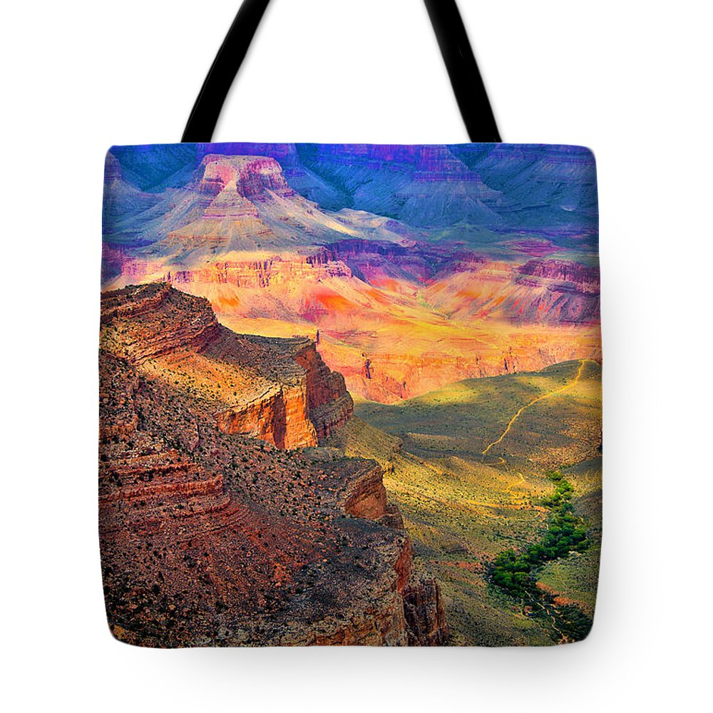 Grand Canyon Tote Bag featuring the photograph Canyon View by Jon Berghoff