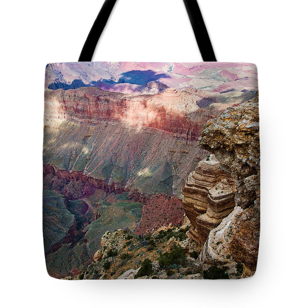 Grand Canyon Tote Bag featuring the photograph Canyon View X by Jon Berghoff