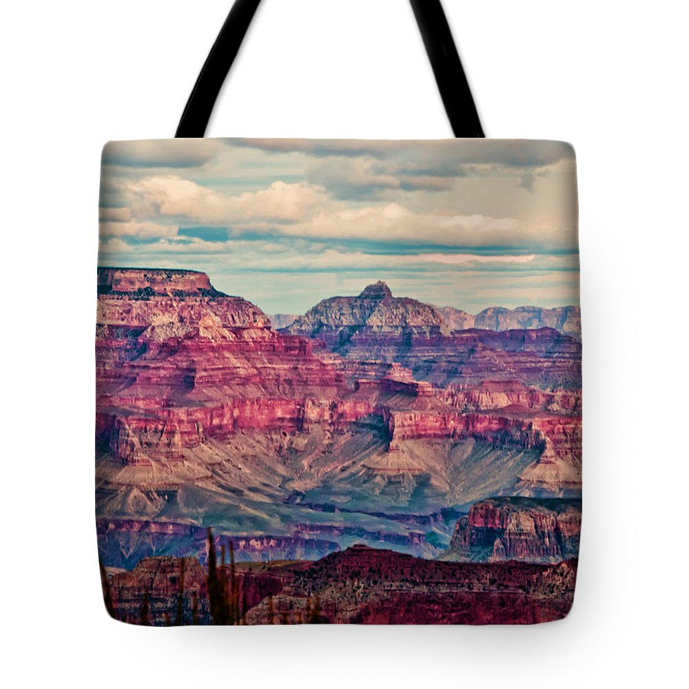 Grand Canyon Tote Bag featuring the photograph Canyon View Xii by Jon Berghoff