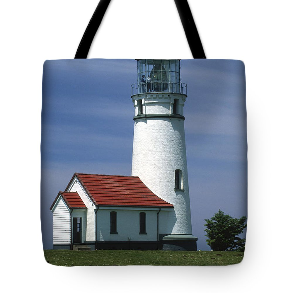 Lighthouse Tote Bag featuring the photograph Cape Blanco Lighthouse by Sandra Bronstein