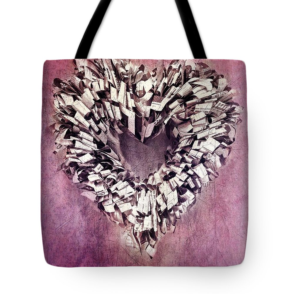 Heart Tote Bag featuring the photograph Cardia by Priska Wettstein
