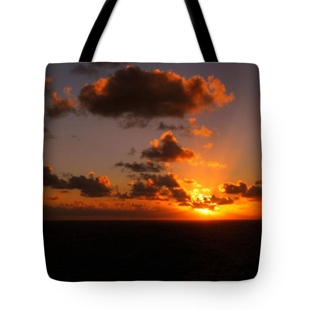 Sunset Tote Bag featuring the photograph Caribbean Sunset by Gary Wonning