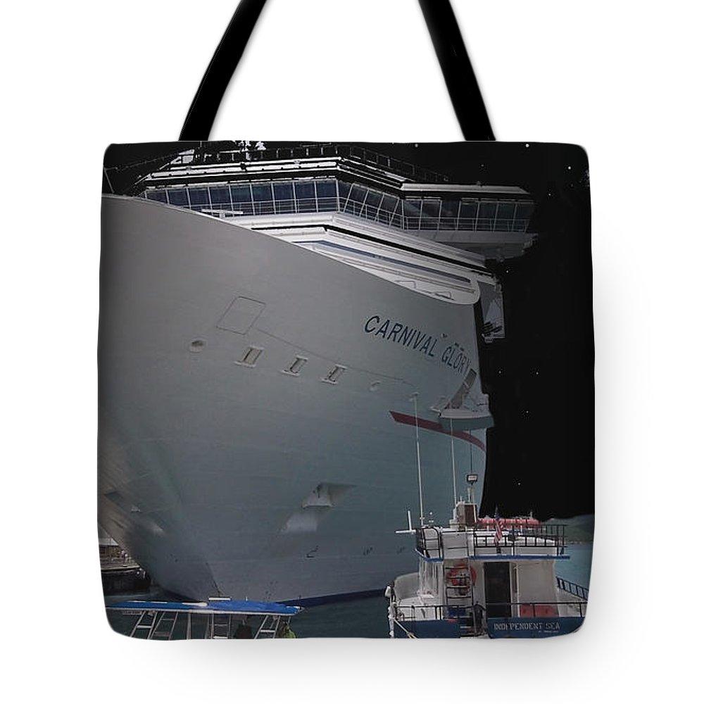 Carnival Tote Bag featuring the mixed media Carnival Glory USVI by Robert aka Bobby Ray Howle