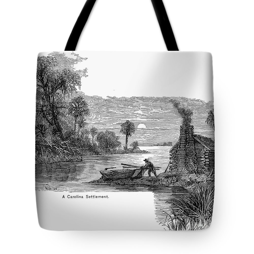 17th Century Tote Bag featuring the photograph Carolina Settlement by Granger
