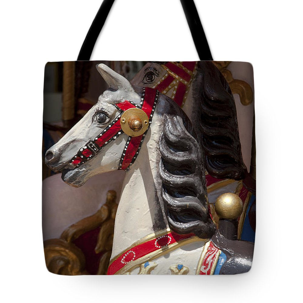 Bavaria Tote Bag featuring the photograph Carousel Horses by Andrew Michael