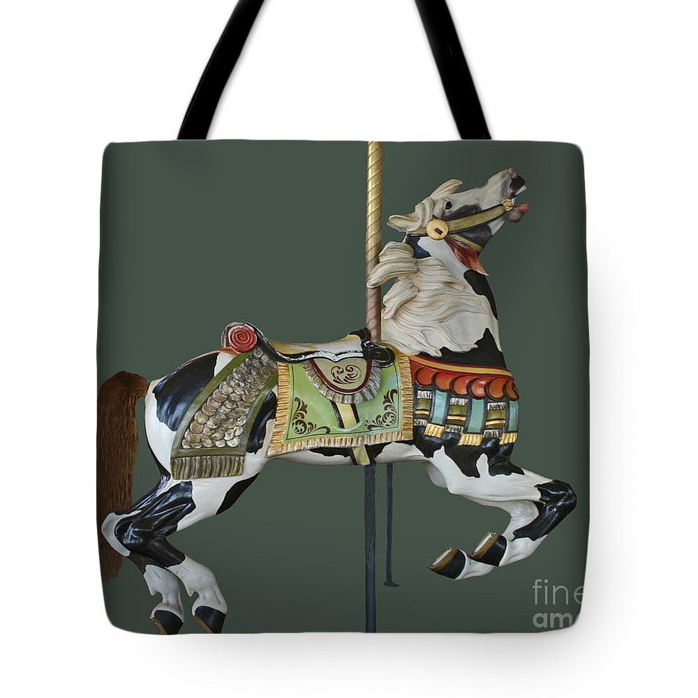 Carousel Paint Horse Tote Bag featuring the photograph Carousel Paint Horse by Cindy Lee Longhini