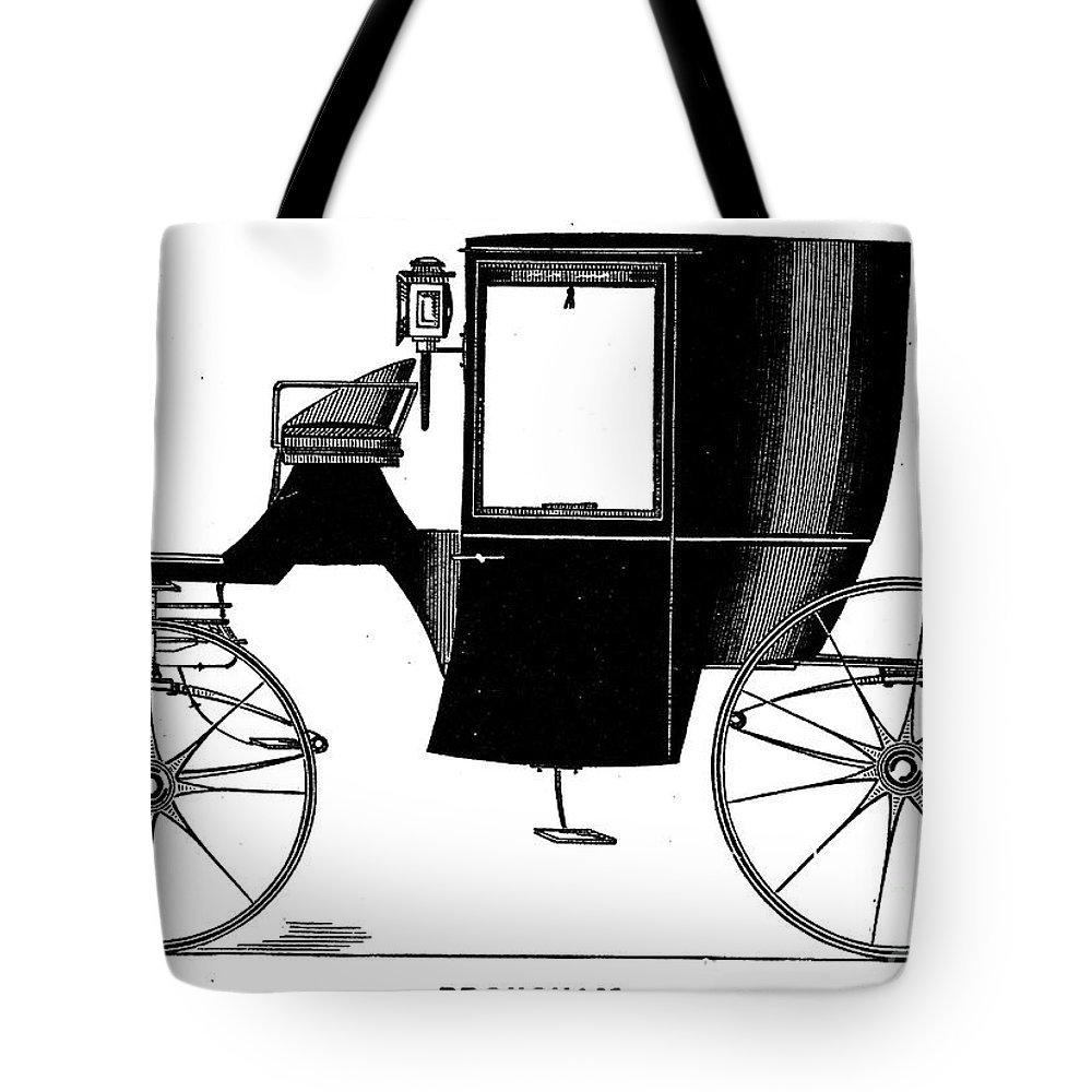 1838 Tote Bag featuring the photograph Carriage: Brougham by Granger