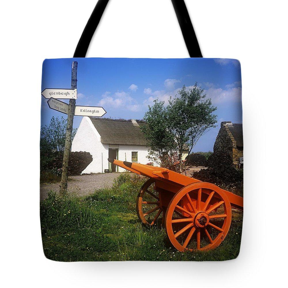 Board Tote Bag featuring the photograph Cart On The Roadside Of A Village, The by The Irish Image Collection