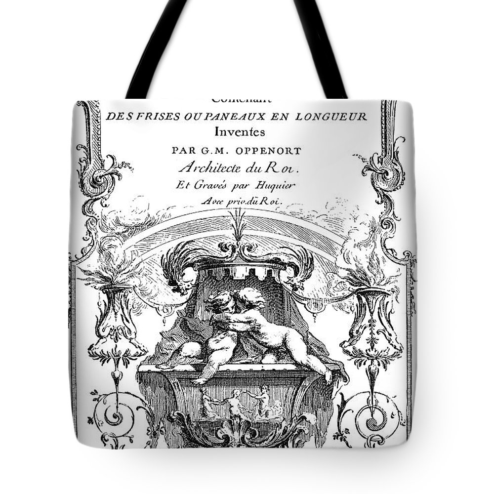 1748 Tote Bag featuring the photograph Cartouche, C1748 by Granger