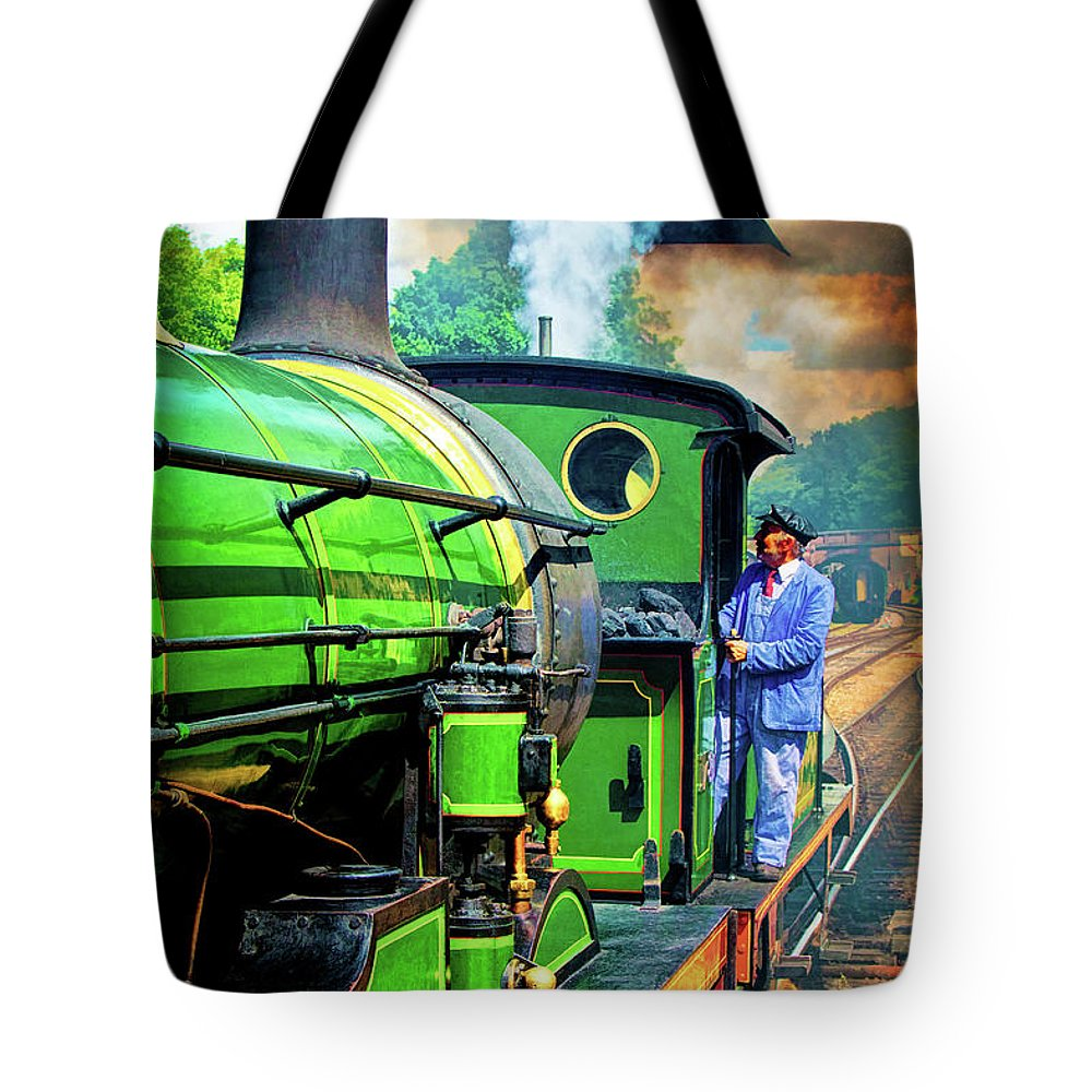Locomotive Tote Bag featuring the photograph Casey Jones by Chris Lord