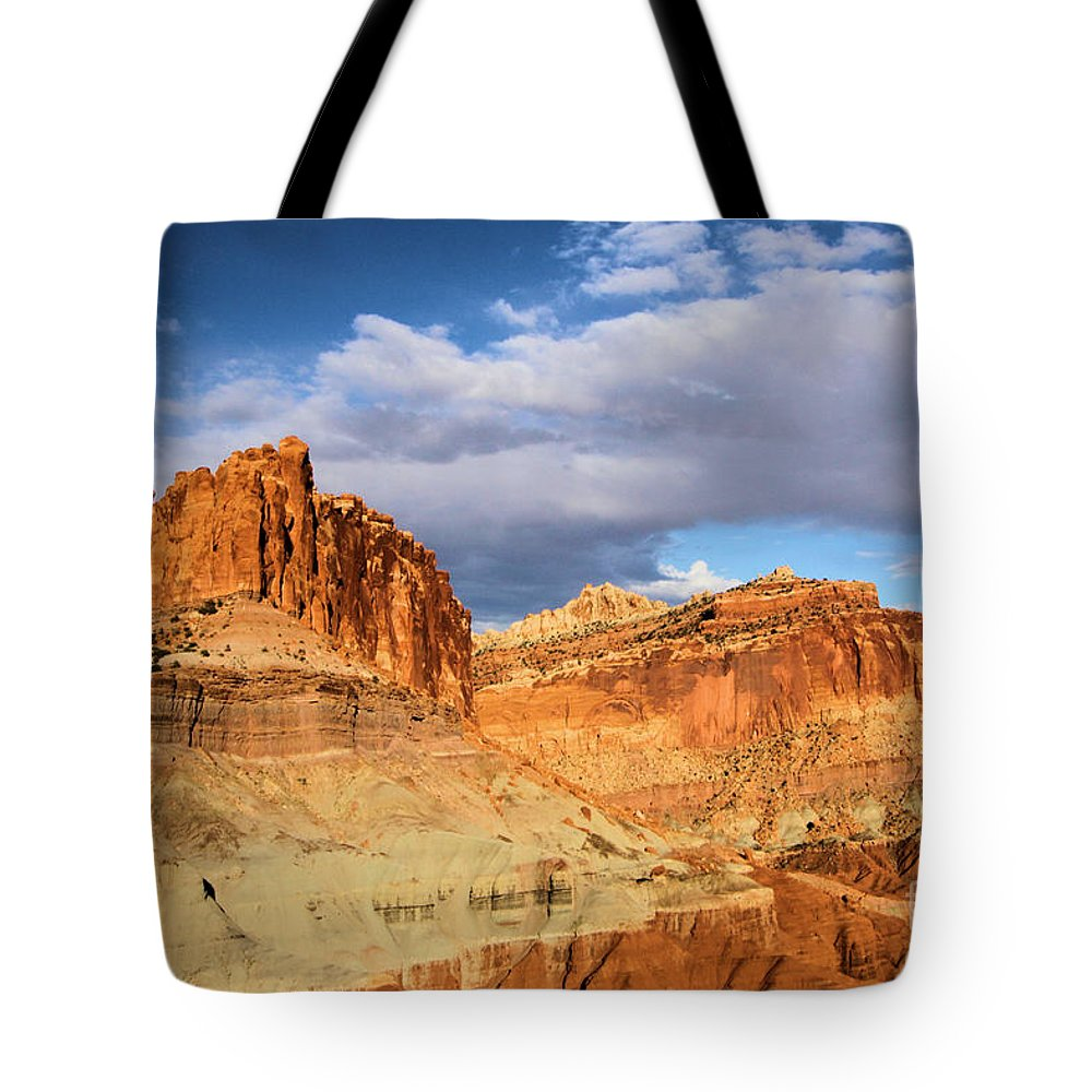 Castle Tote Bag featuring the photograph Castles In The Sky by Adam Jewell