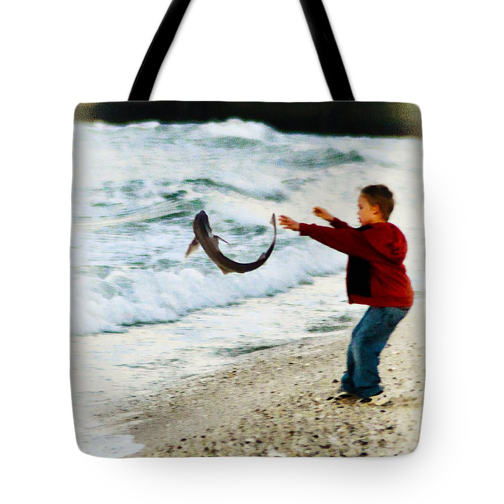 Catch And Release Tote Bag featuring the photograph Catch And Release by Bill Cannon