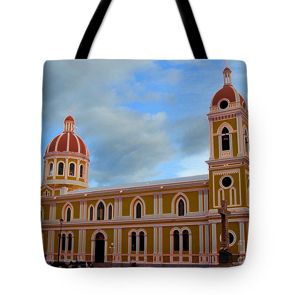 Granada Tote Bag featuring the photograph Cathedral On The Square by Lydia Holly