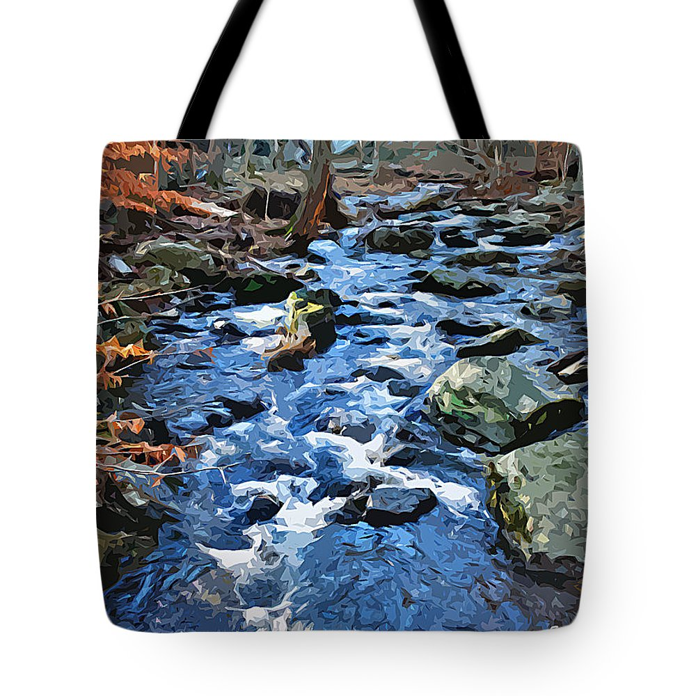 Catoctin Mountain Park Tote Bag featuring the digital art Catoctin Stream by Stephen Younts