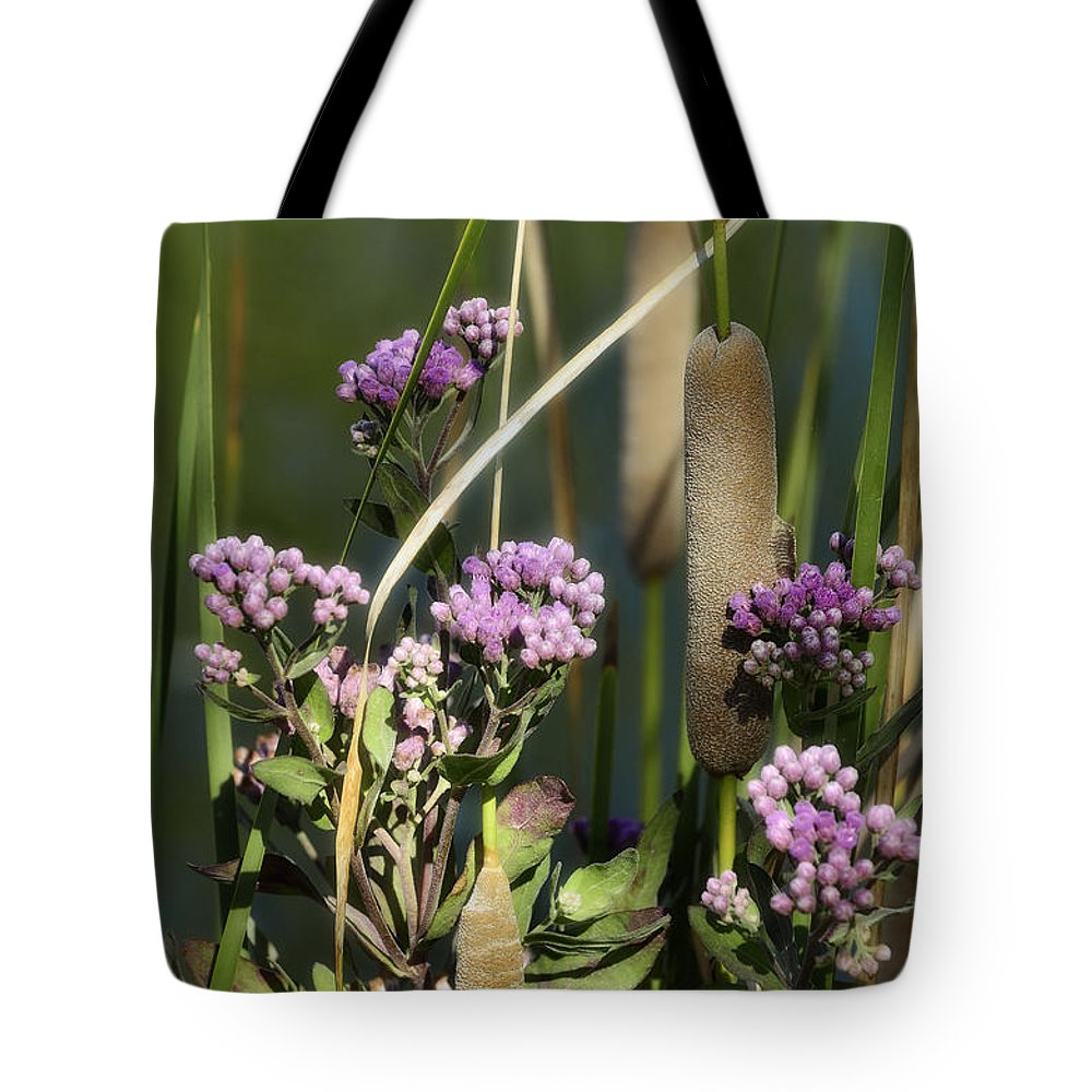 Cattails Tote Bag featuring the photograph Cattails by Saija Lehtonen