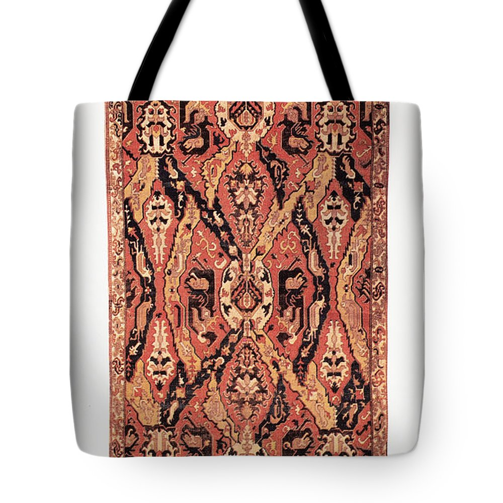 1680 Tote Bag featuring the photograph Caucasus: Carpet, C1680 by Granger