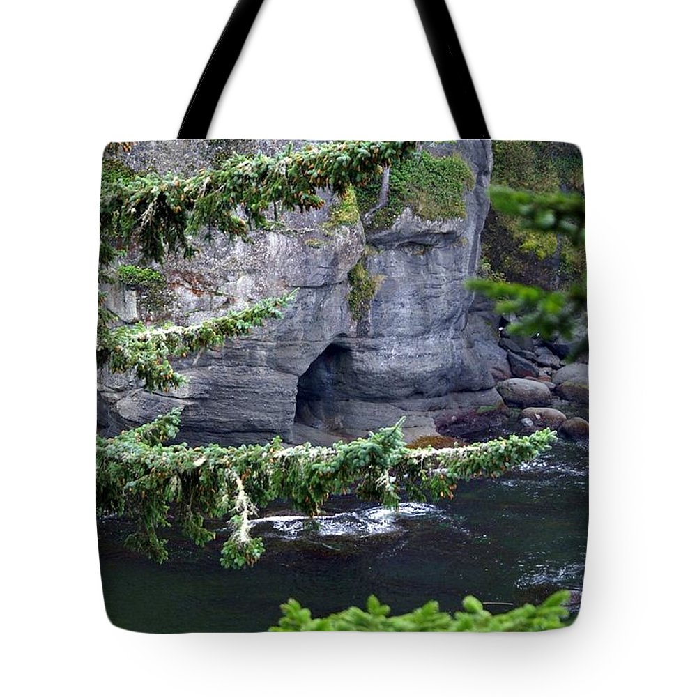 Beautiful Cape Flattery Tote Bag featuring the photograph Cave Of The Bay by Christy Leigh