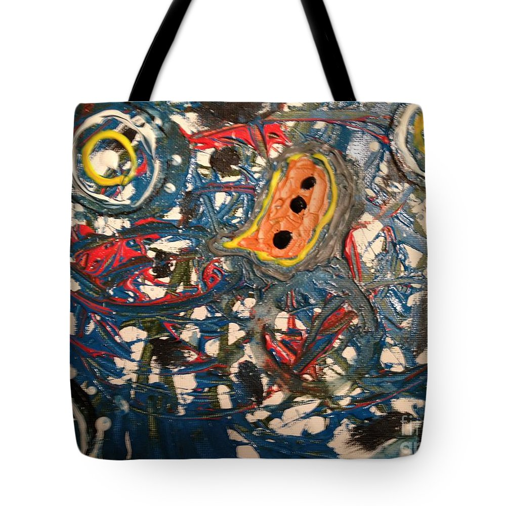 Circles Tote Bag featuring the painting Cave Painting by Damion Powell