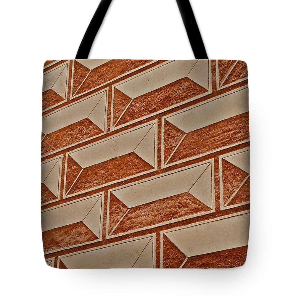 Cement Block Wall Design Tote Bag featuring the photograph Cement Block Wall Design by Kirsten Giving