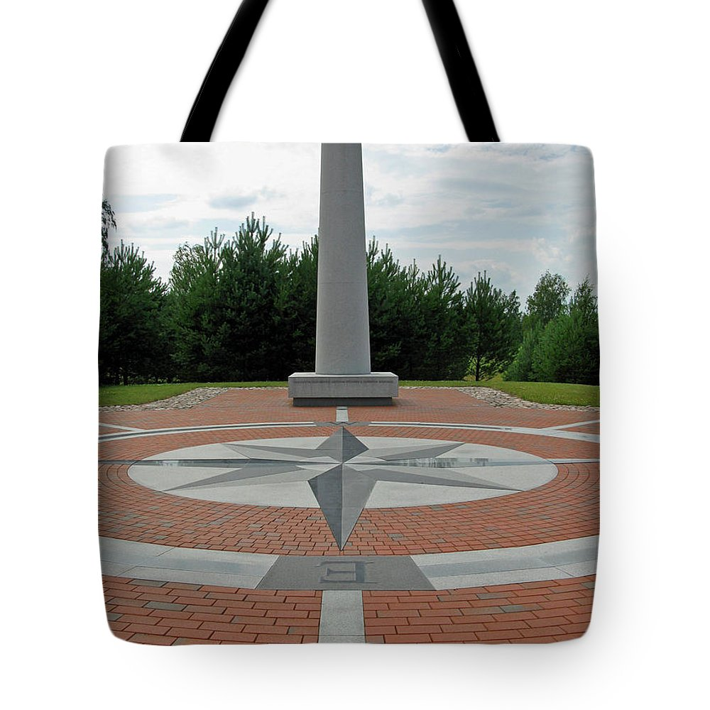 Centre Tote Bag featuring the photograph Center Of Europe. Lithuania by Ausra Huntington nee Paulauskaite